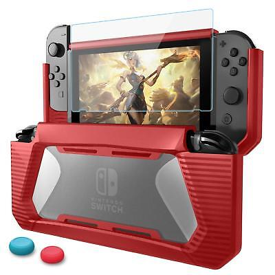 US Hybrid Case for Nintendo Switch Rugged Rubberized Snap on Hard Cover TPU
