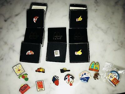 Vintage Mcdonalds Assorted Pins. Lot Of 17.