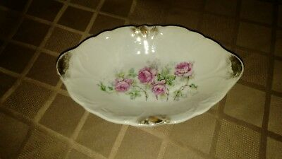 Small Floral Antique Porcelain Dish/Serving Tray