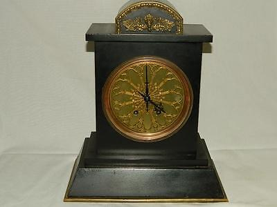 Antique French Vincenti & Cie Marble Mantel Clock Running & Keeping Time
