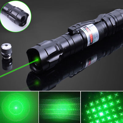 50Miles 2in1 Green Laser Pointer 532nm Visible Beam Light 18650 Astronomy Lazer