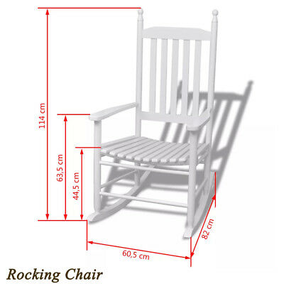 Wood Rocking Chair armchair with Curved Seat Modern Lounge Dining Furniture Home