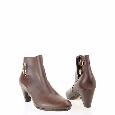 4a63f4ec4248e6 Women s Sam Edelman Marmont Shoes Brown Leather Ankle Boots Size 6 M NEW!