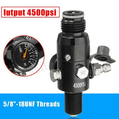 5/8''-18UNF Thread Paintball Valve Regulator 4500psi HPA Air Tank Output