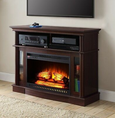 tv stand entertainment center electric fireplace heater remote rh picclick com fireplace tv stand heater not working tv stand electric fireplace heater