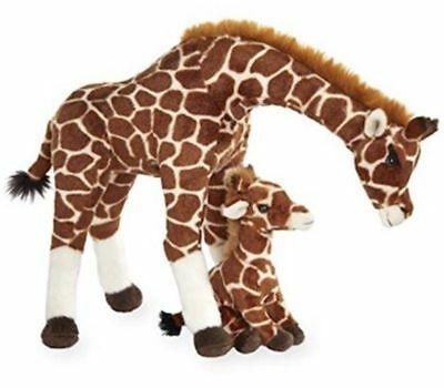 Save The Giraffes Mother and Baby Plush Giraffe Set NEW Toys R Us Exclusive A-2