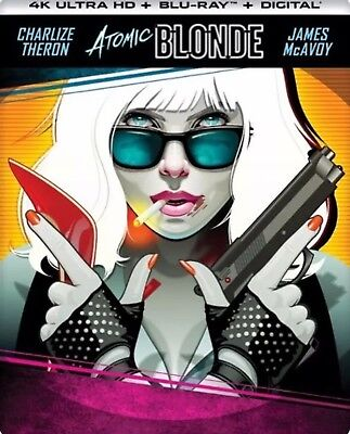 Atomic Blonde -4K Ultra Hd Blu Ray Best Buy Exclusive SteelBook New and Sealed!!