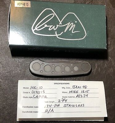 Barry Wood/Mike Irie MK10 Stainless Knife - Caper - Colorado, USA