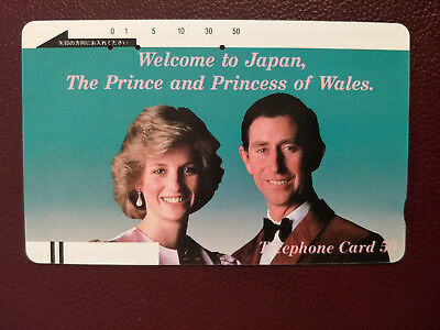 Used Japanese Phonecard Welcome to Japan The Prince & Princess of Wales