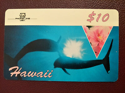 Used $10 Phone Line USA Hawaii Phonecard