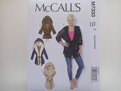 MCCALL/'S SEWING PATTERN 7665 MISSES SZ 16-24 LOOSE-FITTING JACKETS IN PLUS SIZES