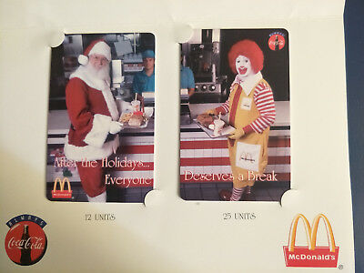 Mint USA McDonalds & Coca Cola Christmas Theme Phonecard Pack