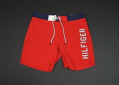 ba0f1536 TOMMY HILFIGER MEN Logo Embroidery Front Swim Trunk Shorts NEW NWT ...