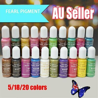 20Colors UV Resin Liquid Pearl Dye Pigment Resin Epoxy For DIY Jewelry Crafts FO