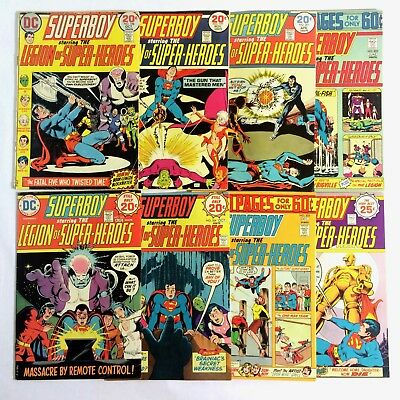 SUPERBOY & LEGION of SUPER HEROES 198-199, 201-206 (1973-1975)8 issue lot