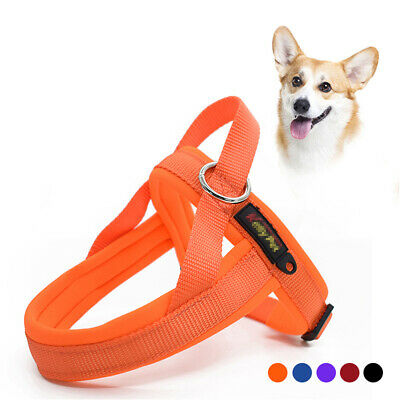 No Pull Front Clip Dog Harness Reflective Plush Padded Pet Vest Quick Fit XS-L