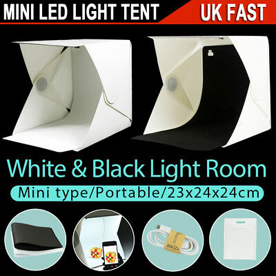 Portable Photo Studio Lighting Mini Box LED Light Room Tent Photography Backdrop