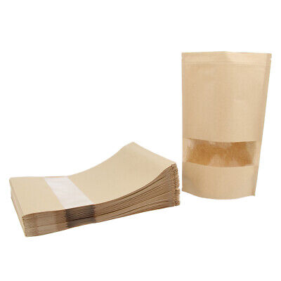 50x Brown Kraft Paper Gift Candy Bag Wedding Packaging Bags Recyclable Bags