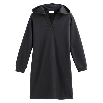 La Redoute Collections Womens Hooded Sweatshirt Cotton Mix Dress