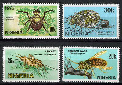 Nigeria 1986 Mnh Set Nigerian Insects