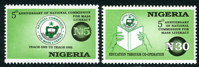 Nigeria 1996 Mnh Set Mass Literacy Commission