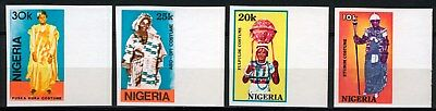 Nigeria 1989 Mnh Set ***imperforate*** Traditional Costumes