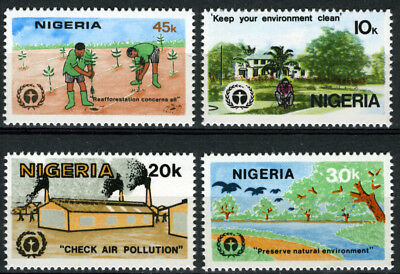 Nigeria 1982 Mnh Set 10Th Anniv. Of U.n. Conference On Human Environment