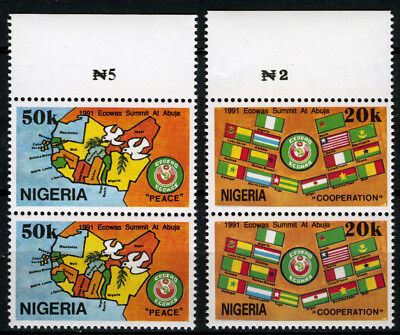 Nigeria 1991 Mnh Set Economic Community Of West African States Summit