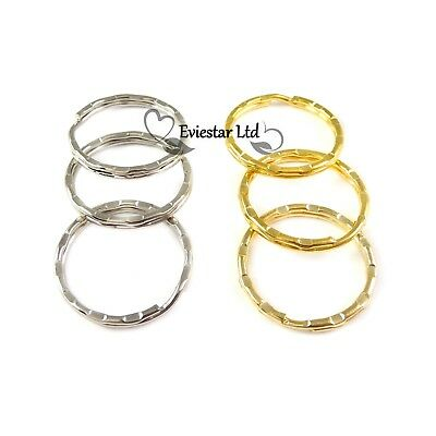 Double Split Rings 25mm Key Rings Gold and Nickel Plated G244