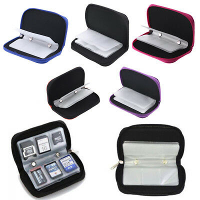 Wallet Box Pouch Memory Card Storage Carrying Case CF/SD/SDHC/MS/DS Bag Holder