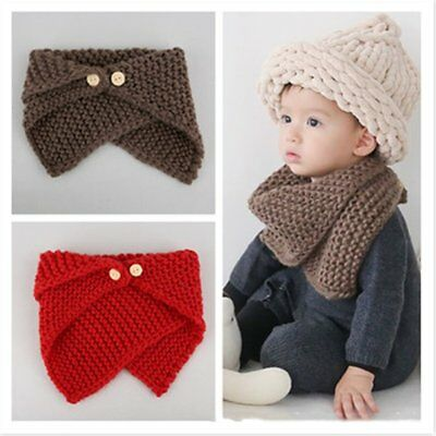 Triangle Kids Scarf Unisex Collar Neck Scarves Button Decoration Unisex Ring WQ