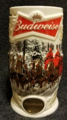 """2014 Budweiser """"Holiday Lane"""" Beer Stein Mug with Certificate Of Authenticity"""