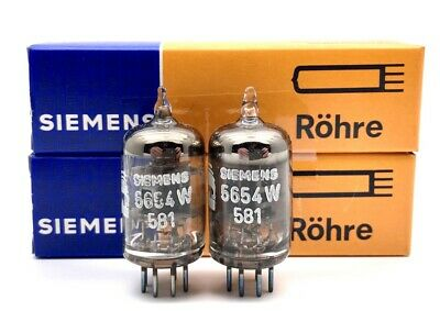 Siemens 5654W EF95 6AK5 Valve Original Boxed New Old Stock - Matched Pair (V35)