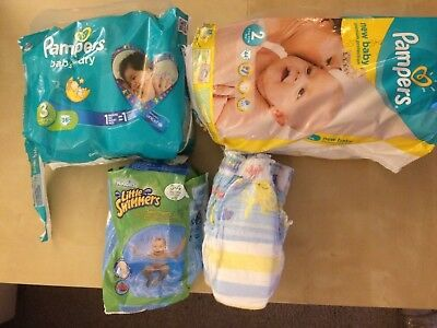 Neue Windeln  Pampers Baby Dry Gr. 3 19 St., New Baby Gr. 2 ca. 35 St.,etc.