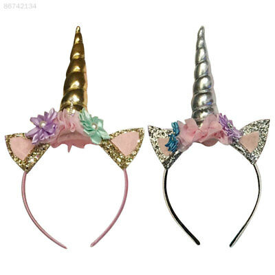 388E Unicorn Horn Head Kid Hair Headband Fancy Dress Decorative New Hot Girl