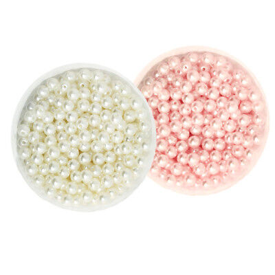 1000PCS Mixed Colors 6mm ABS Pearl Beads with Hole DIY Jewelry Accessories