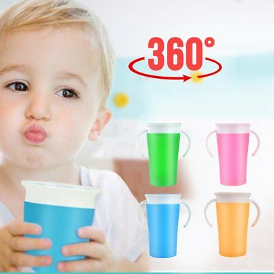 Baby Learning Drinking Cup Leak-proof 360 Degree Learn Drink Training Cup TG