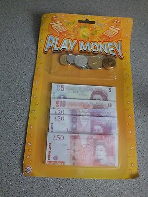 Fake Money ££ Childrens Kids Pretend Toy Cash Notes Coins Role Play At Shops