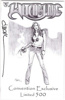 Witchblade #61 - Jay Company Convention Sketch Variant - Signed By David Wohl