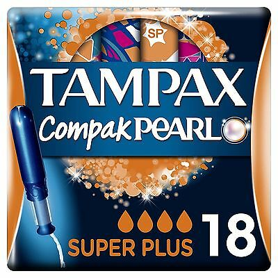 Tampax Compak Perle Super Plus Tampons Application Femmes Fuite Protection 18