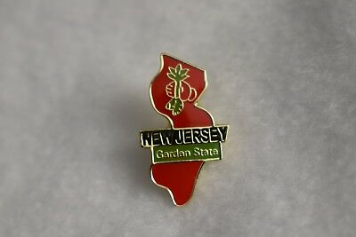 New Jersey  State  Nice Red  colorful lapel pin  NEW!!!