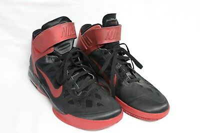 designer fashion 359f4 a1a88 Nike Air Max Fly By Mens Athletic Basketball Shoes Black   Red 492545-001 Sz