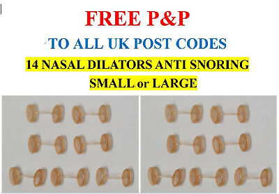 14 NASAL DILATORS ANTI SNORING BREATHE EASIER Choose SMALL, or LARGE