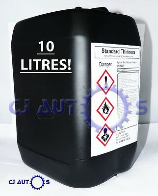10 LITRES Standard Thinners Spray Gun Wash Parts Cleaner Cellulose Paint Thinner