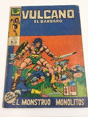 1973 Spanish Comic #22 Vulcano El Barbaro Monstruo Monolitos Edipres Mexico