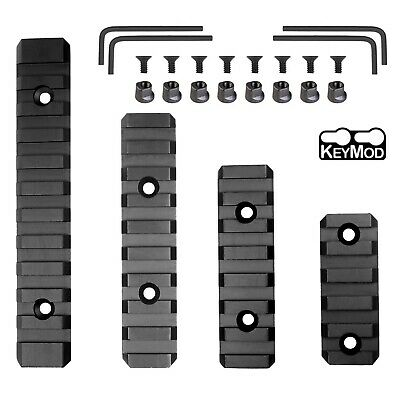 "2"" 3"" 5"" Picatinny / Weaver Rail Section for Keymod Handguard - Polymer 4 PCS"