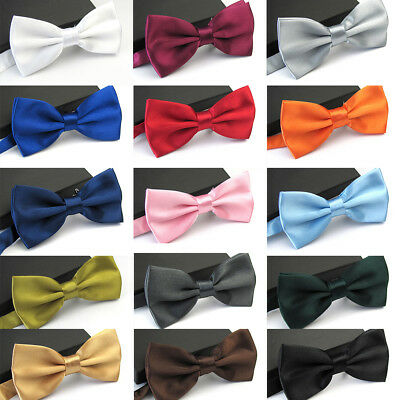 Men Classic Wedding Bowtie Necktie Bow Tie Pre Tied Tuxedo Fashion Adjustable US