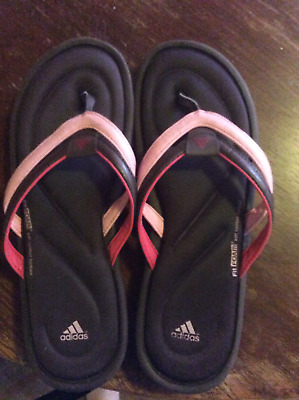 363f4ff525b2 ADIDAS FITFOAM SANDAL Flip Flops Size 11 Pink and Brown Pre-owned ...