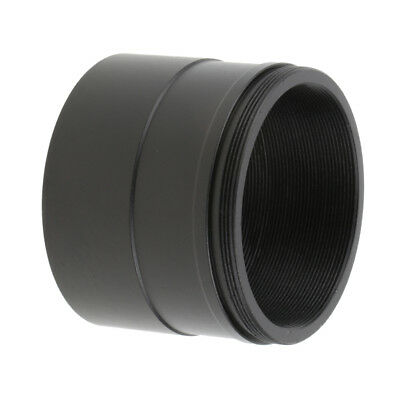 """Universal 2"""" to T2 M48*0.75 Adapter w/ Thread for Telescope Eyepiece Black"""