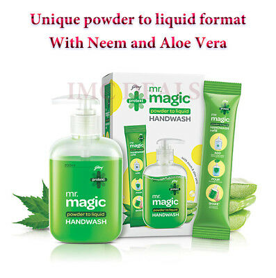 Godrej Protekt Mr magic handwash first ever powder to liquid, Refills included